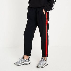 Light before dark-Black with red strips dress pant